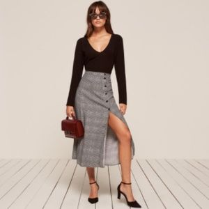 NWT Reformation Veronica Skirt in Heather Sz 2